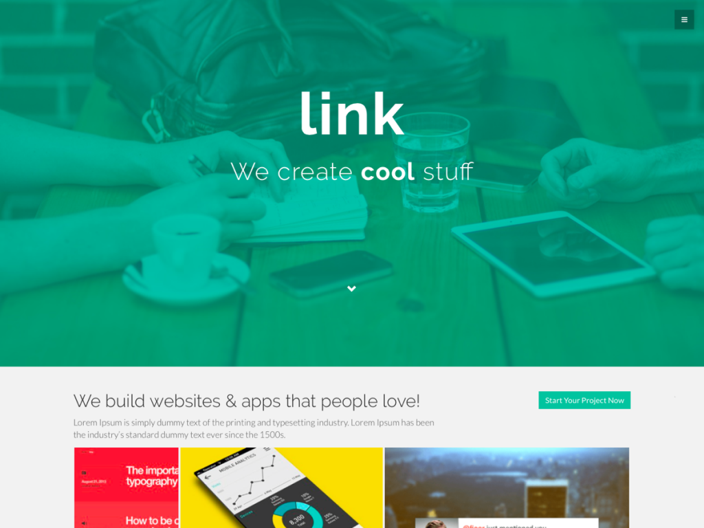 Link WordPress Theme