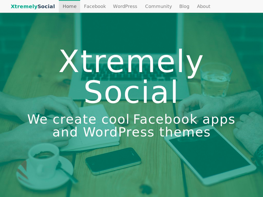 XtremelySocial website screenshot